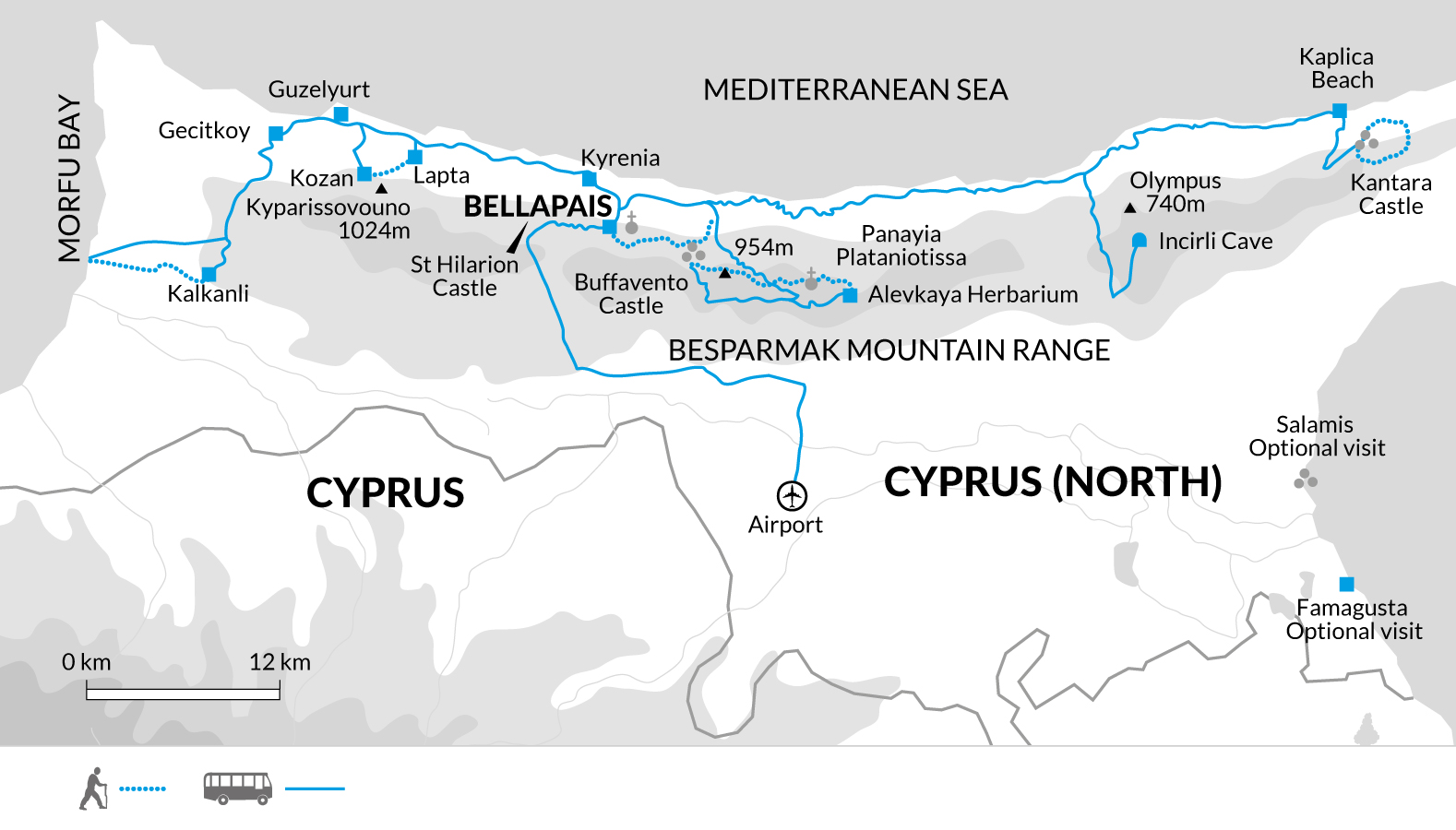 Walking holiday in northern Cyprus Explore