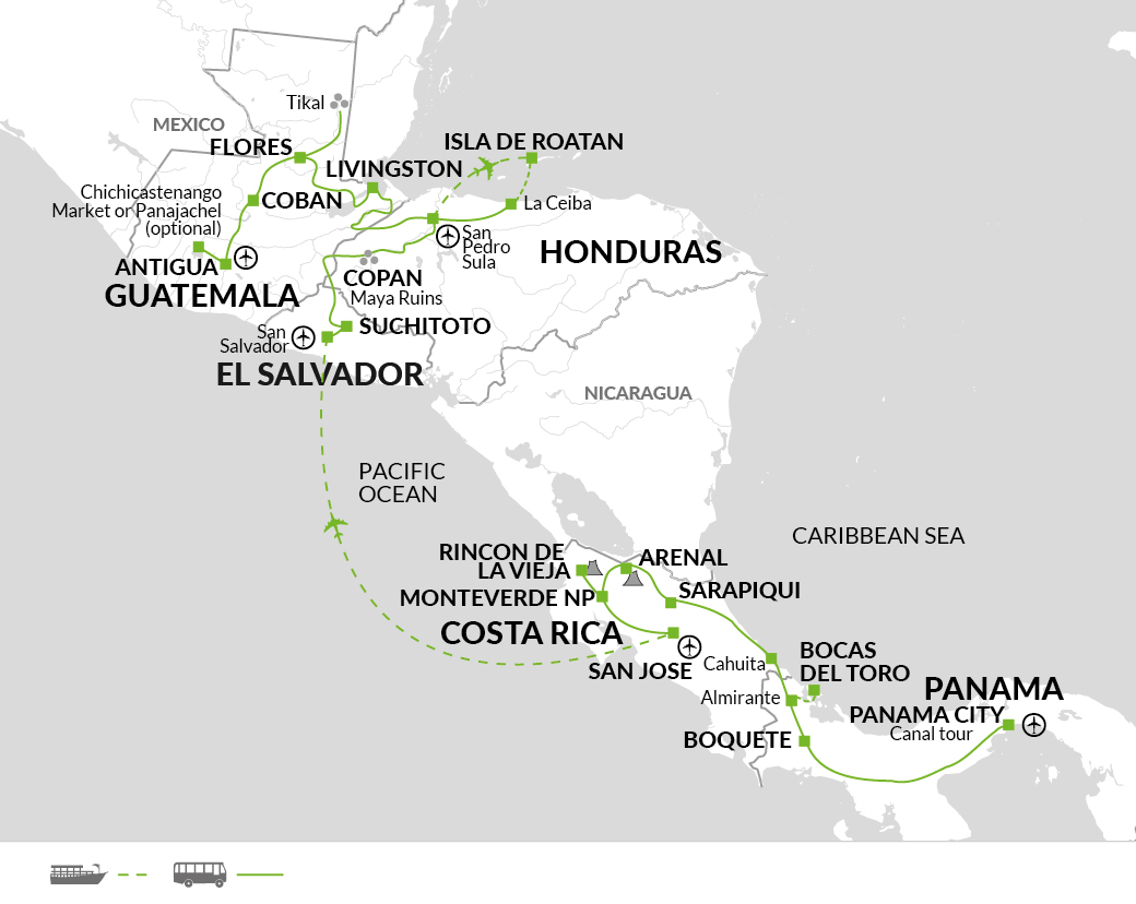 Map for trips from Jan to April