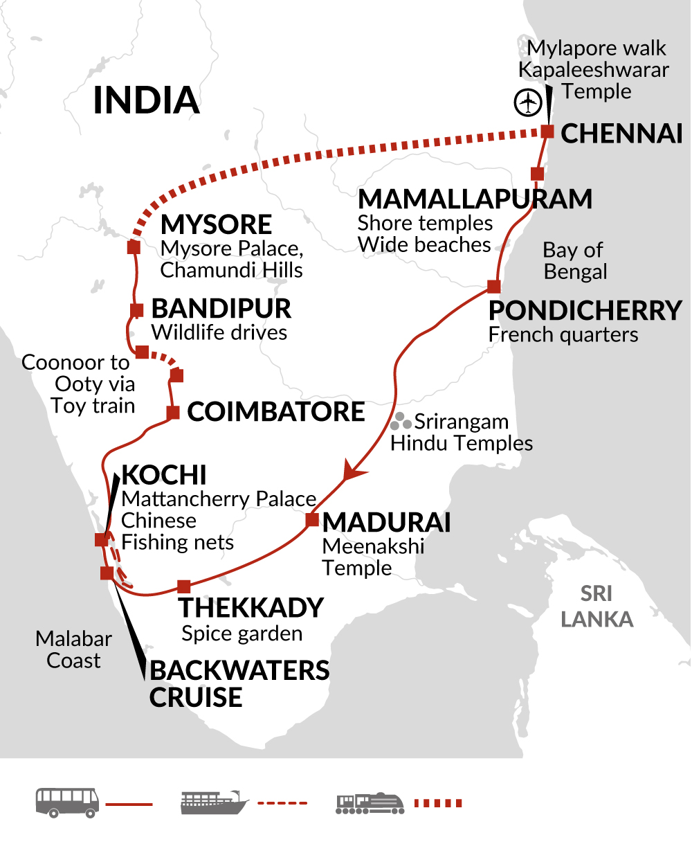 Highlights of Southern India 2020 itinerary