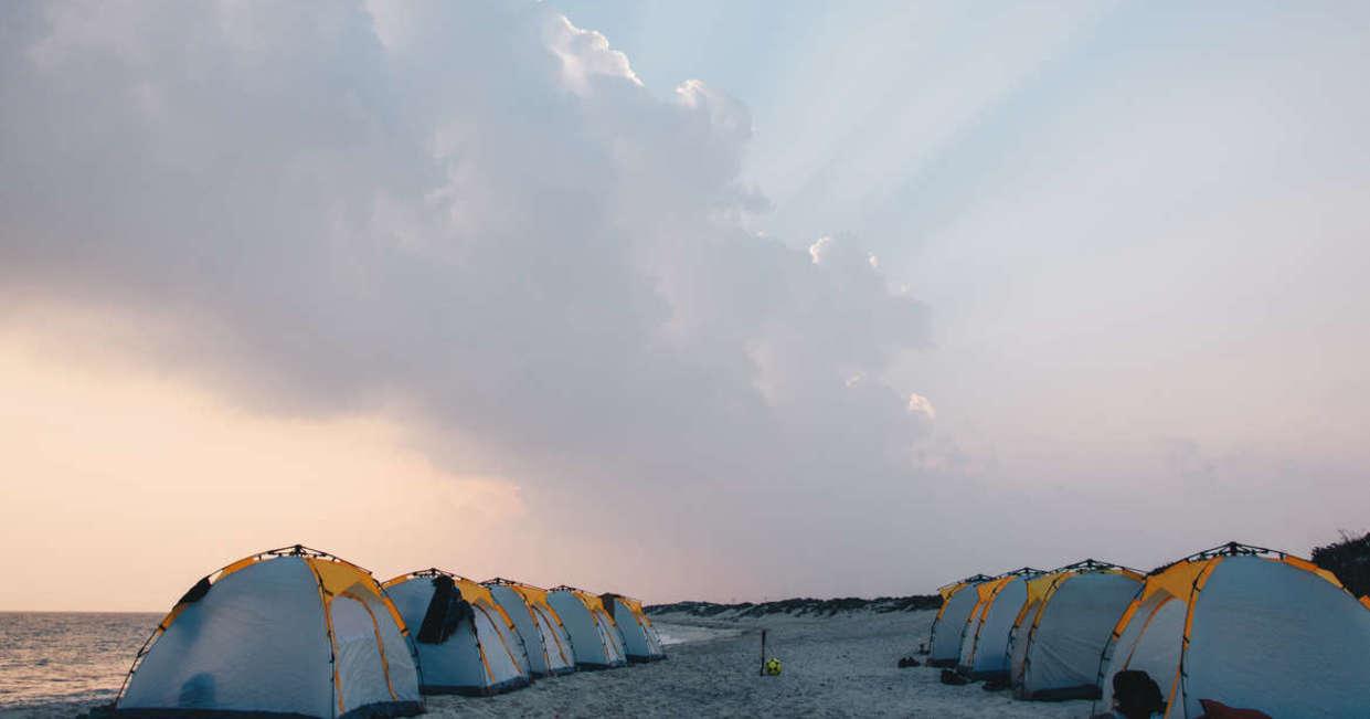 Campsite at Finns Beach