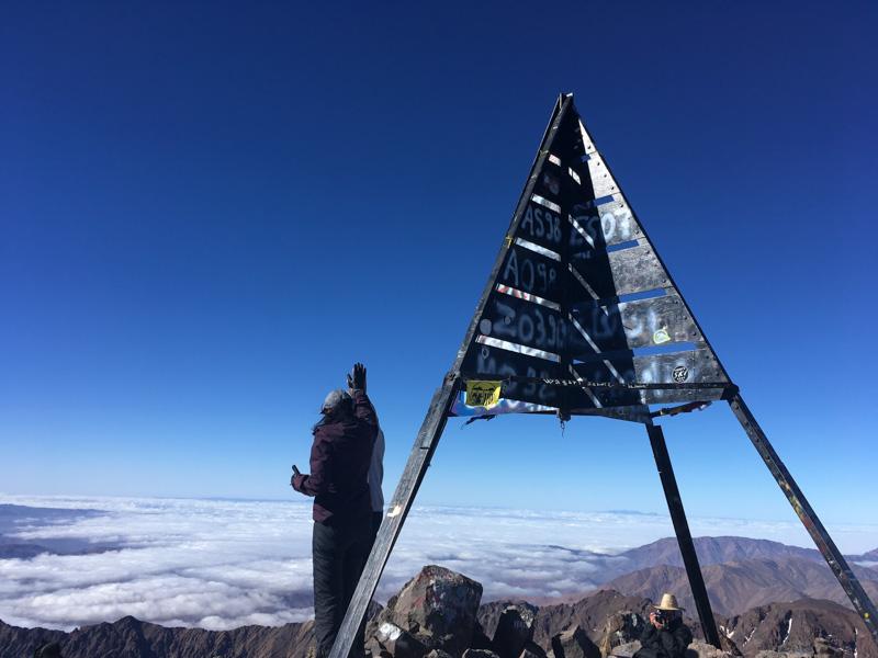 Reaching Toubkal summit