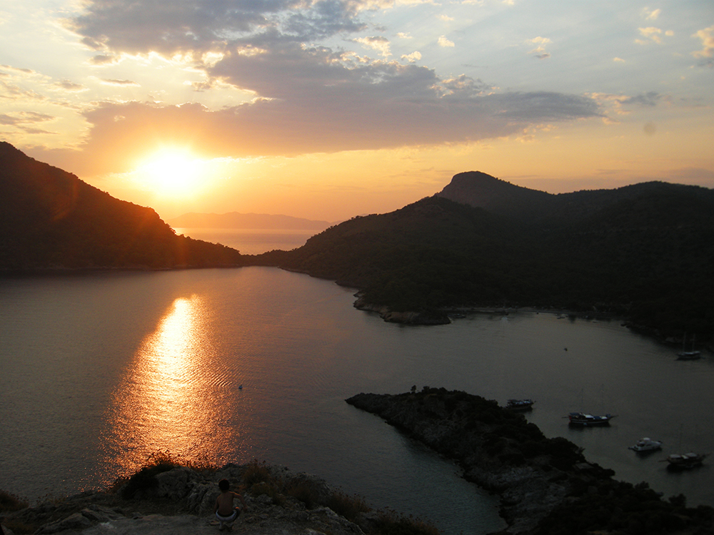Sunset over Gemiler Island