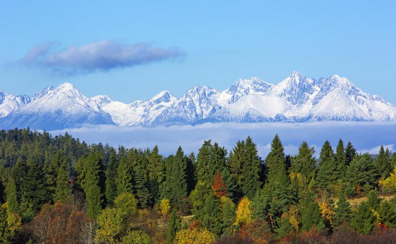 Views of the High Tatra Mountains